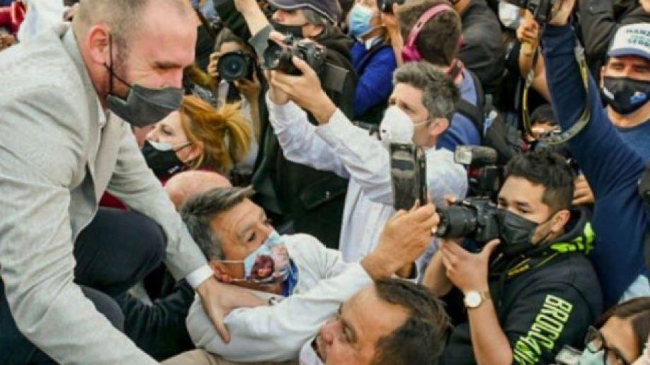 Guzmán, durante el acto en Tucumán. (Gentileza).-