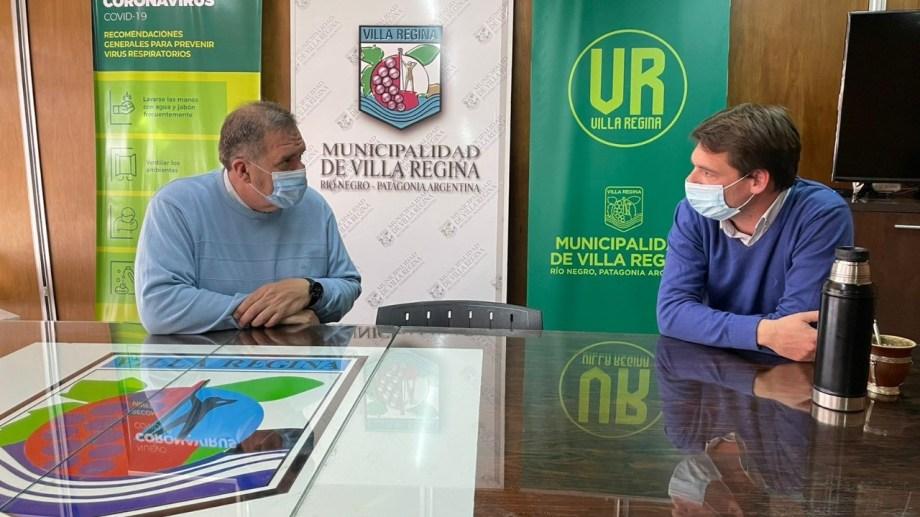 Marcelo Orazi y Rodrigo Buteler, se reunieron para coordinar el programa Comunidad en Municipios.