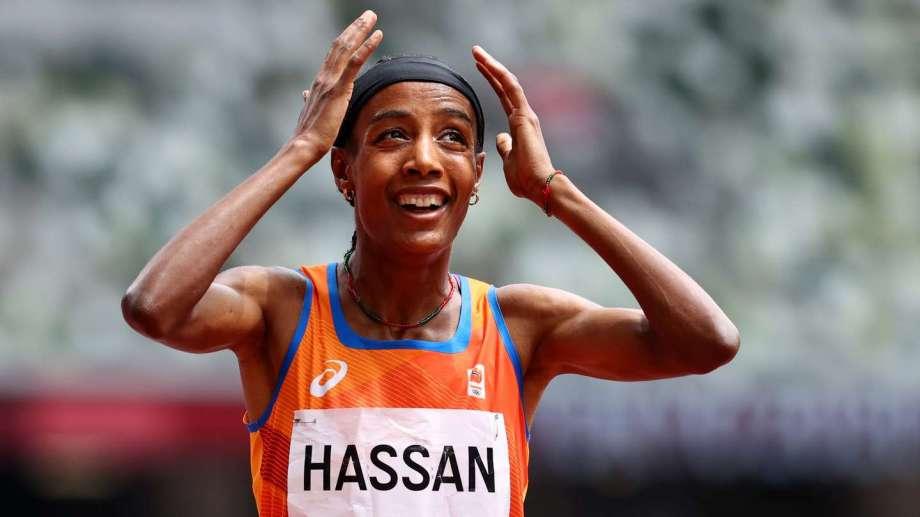 Sifan Hassan se impuso en la serie de 1500 metros.