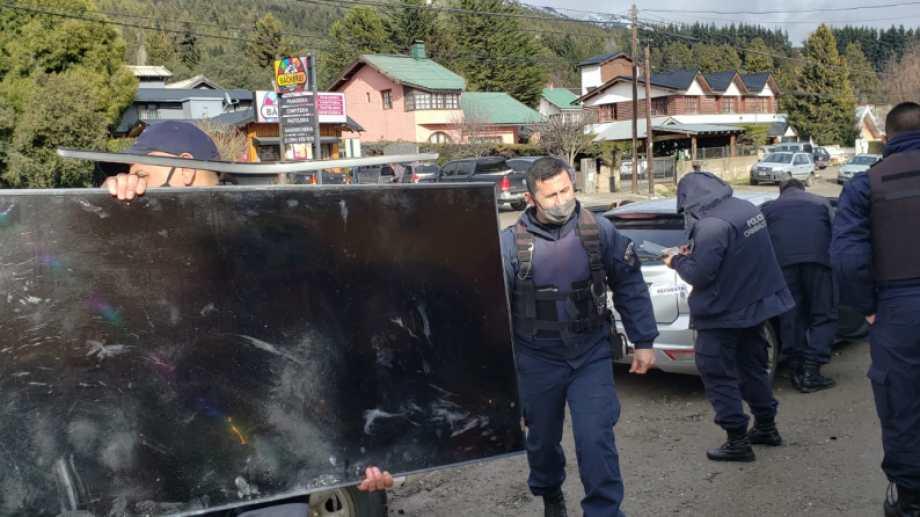Se recuperaron cuatro televisores. Foto: gentileza