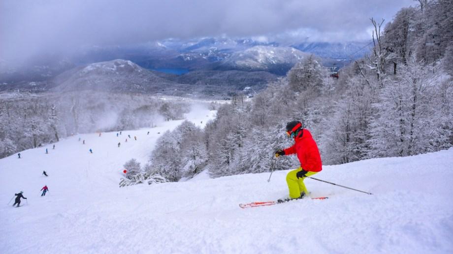 Así está Chapelco después de las nevadas.