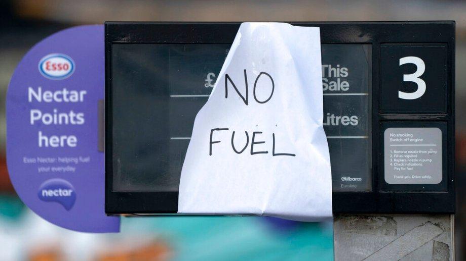 La crisis del combustible aumenta la tensión en el Reino Unido. (Foto: AP)