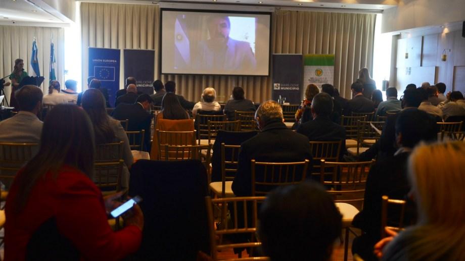 En el salón BEC se realizó el primer evento de reuniones en Bariloche, tras el cierre de 18 meses de esta actividad. Foto: Chino Leiva