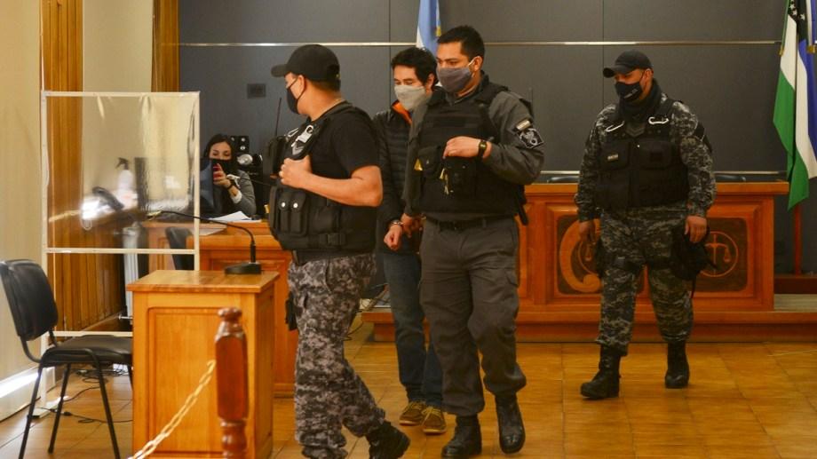 Matías Vázquez fue condenado por el delito de homicidio culposo agravado de Lucas Caro (17). Hoy escuchó la pena que le impusieron los jueces  Foto: Chino Leiva