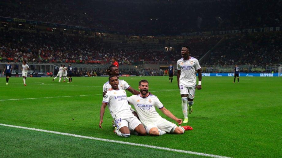 Real Madrid festejó sobre el final contra Inter.