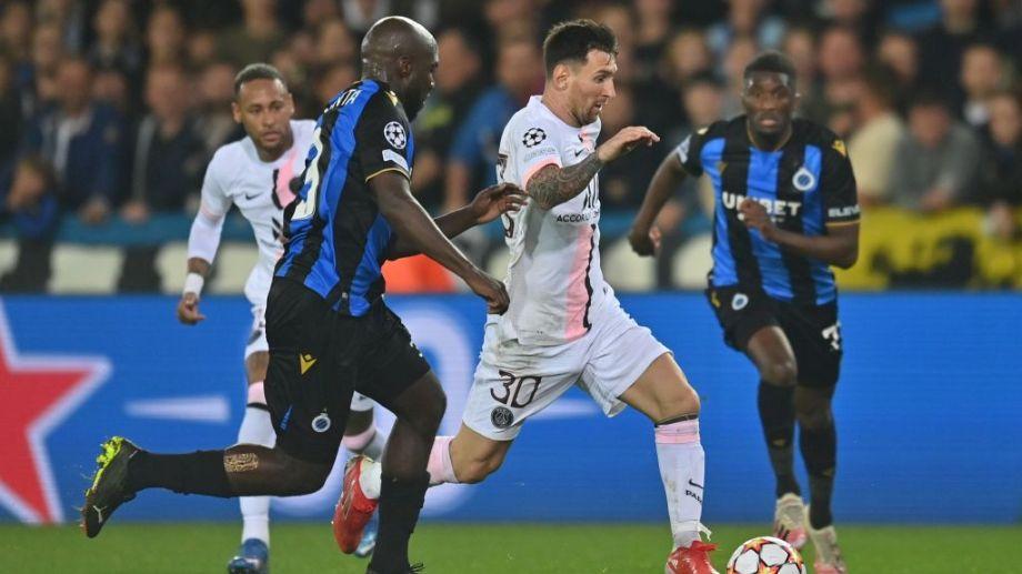 Messi viene de jugar su primer partido completo en el PSG. Fue en el empate 1-1 ante el Brujas, por la Champions.