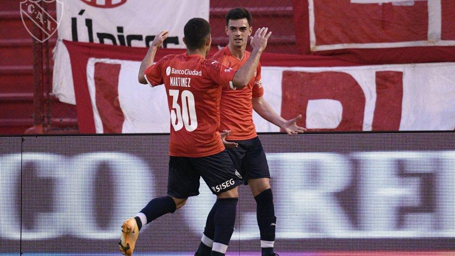 Soñora marcó el único tanto del Rojo ante el Globo.