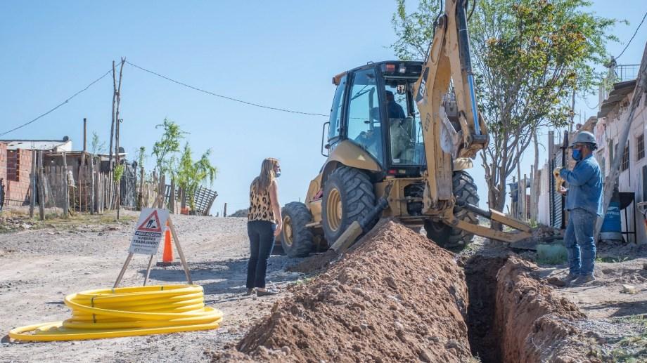 La obra de extensión de gas comprende la zona norte de Barrio Nuevo (Foto Gentileza)