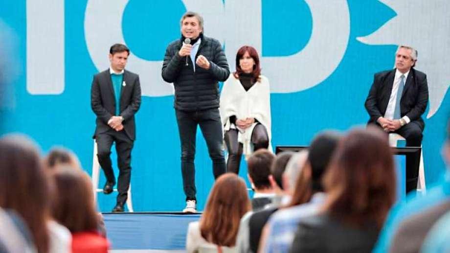 """El referente del Frente de Todos habló, además, de que """"hay que trabajar, trabajar, trabajar"""".-"""