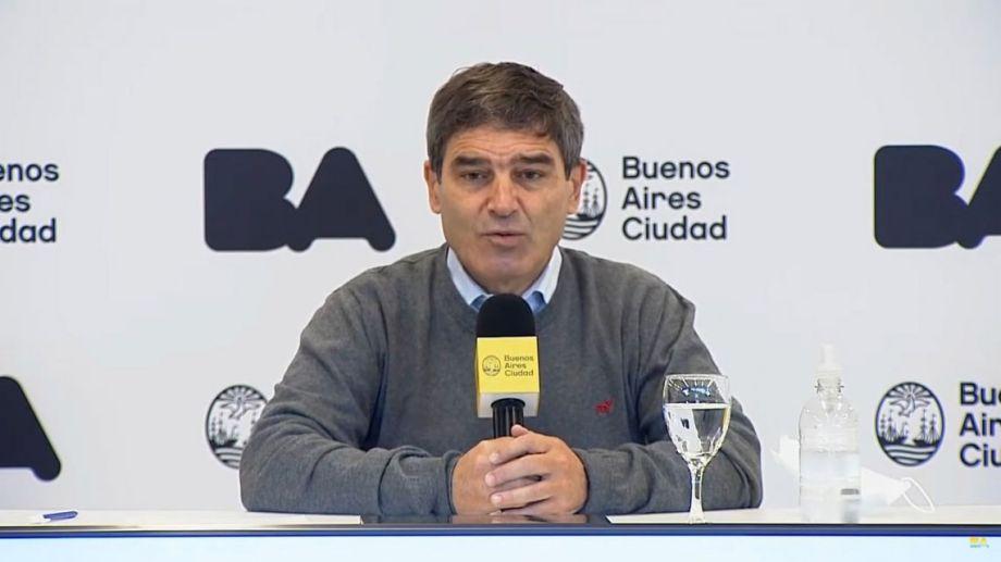 Fernán Quirós, ministro de Salud de la ciudad de Buenos Aires.