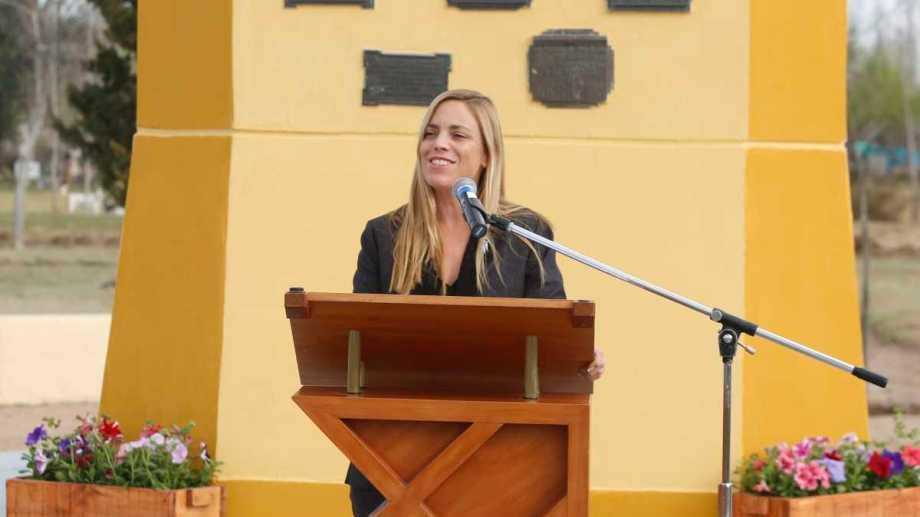 La intendenta Soria, el miércoles pasado, durante los actos protocolares que se organizaron por el aniversario.