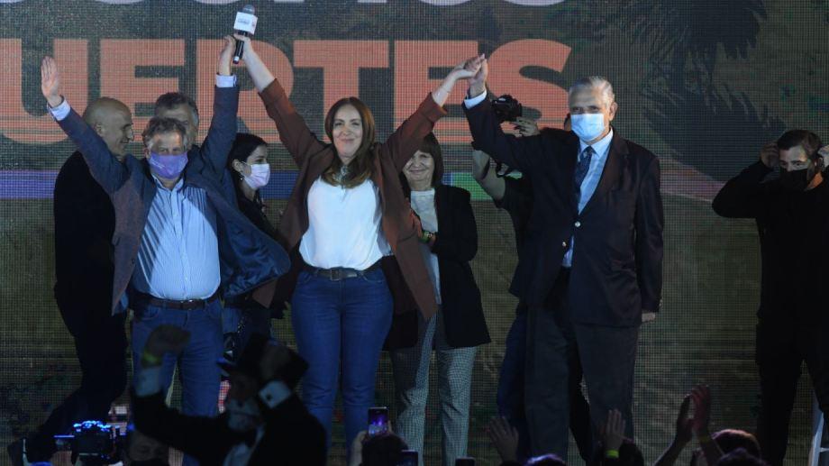 El búnker de Juntos por el Cambio tuvo grandes festejos. Foto: Télam