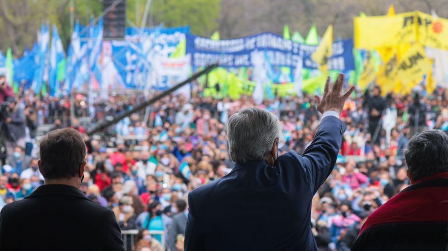 El Presidente durante uno de los últimos actos de campaña.