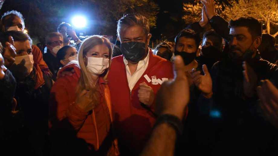 Color rojo SIEN, el elegido por la lista para el día de la elección. Foto: Florencia Salto.