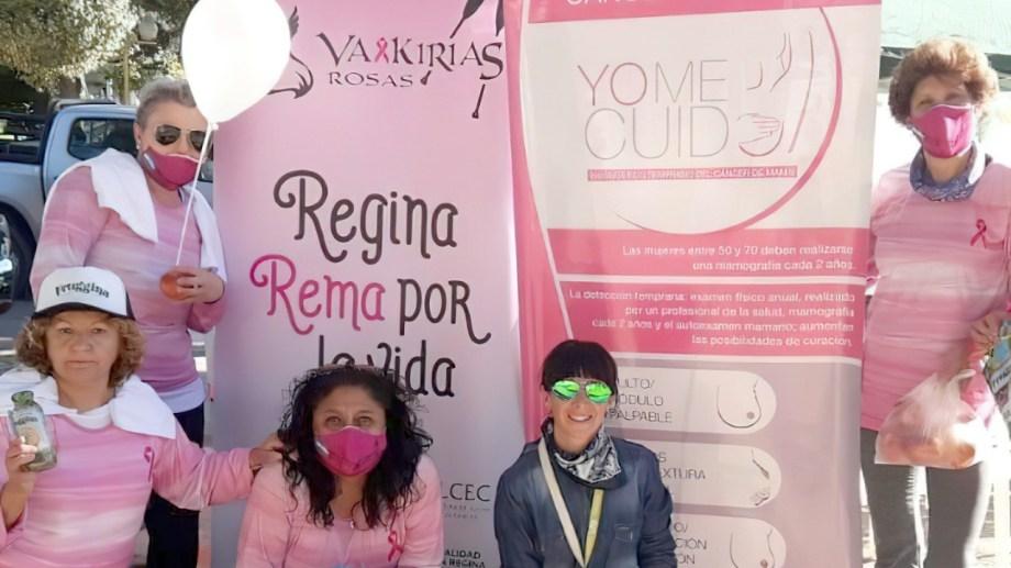 Convocan a partiricpar de actividades por el mes de prevención del cáncer de mama. (Foto Néstor Salas)