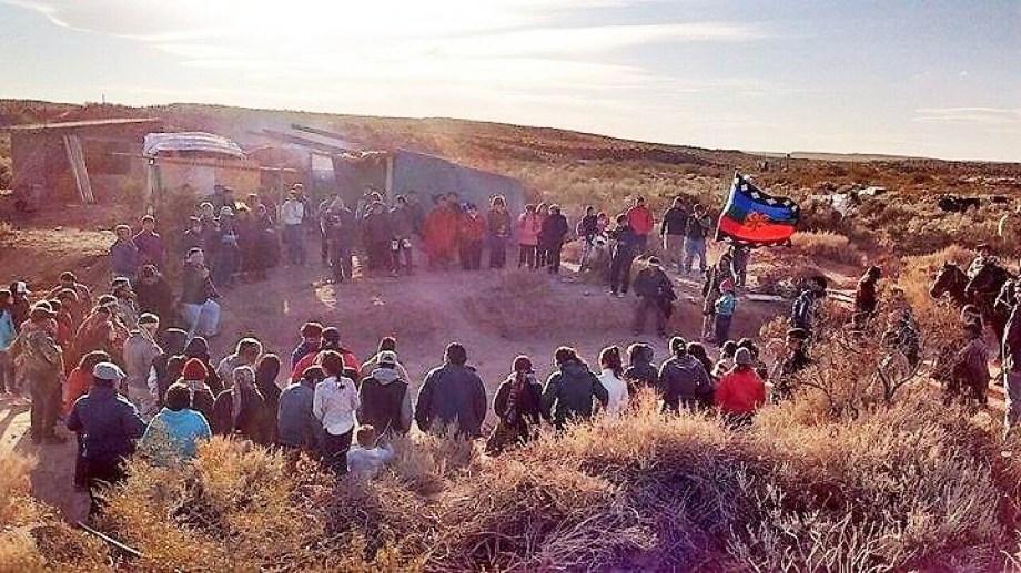 La comunidad Fvta Xayen se instaló en las tierras ubicadas a 18 kilómetros de Añelo. (Gentileza).-