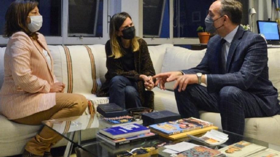 Carreras se reunió con Raverta y Doñate. Foto: gentileza.