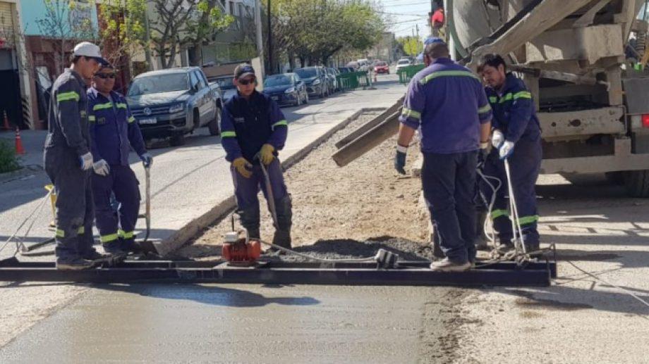 Aguas Rionegrinas realizó diversas reparaciones en la ciudad (Foto Gentileza)