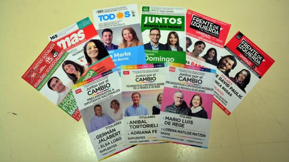 Las nueve boletas electorales protagonistas en la jornada de hoy. Foto; Marcelo Ochoa.