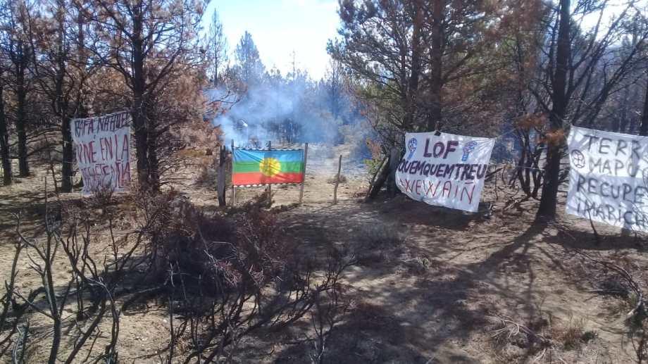 Apareció un nuevo foco de conflicto mapuche en la zona de Cuesta del Ternero, en cercanías de El Bolsón. (Foto Gentileza)