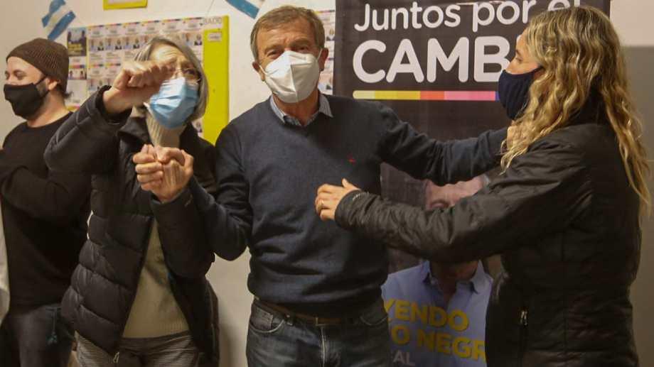 Tortoriello en el búnker de Juntos por el Cambio en Cipolletti (Juan Thomes)