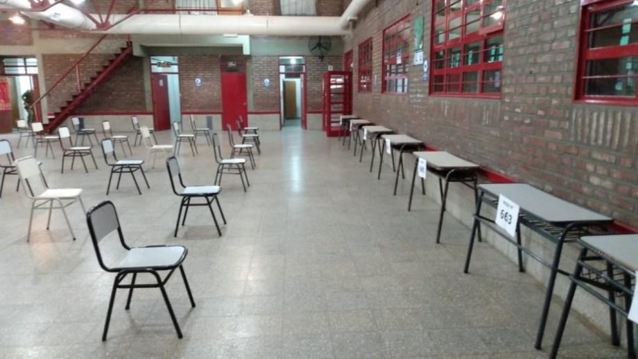 En el CPEM N° 20 de Cutral Co es uno de los lugares de votación (Foto Gentileza)