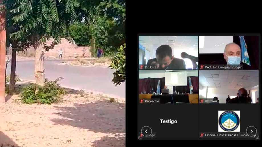 El video registra el momento en que se arrojaban las piedras y se escuchan las detonaciones.