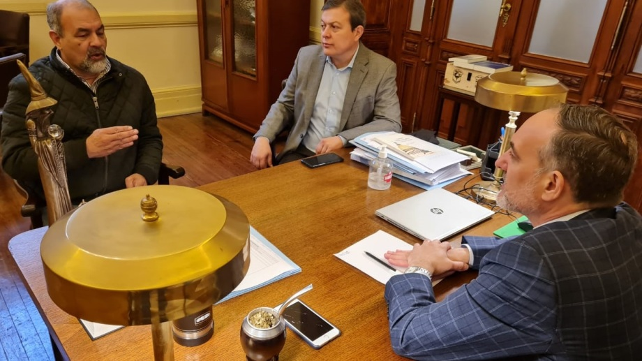 Torres se reunió con los representantes rionegrinos en el Congreso Nacional. Foto: gentileza.