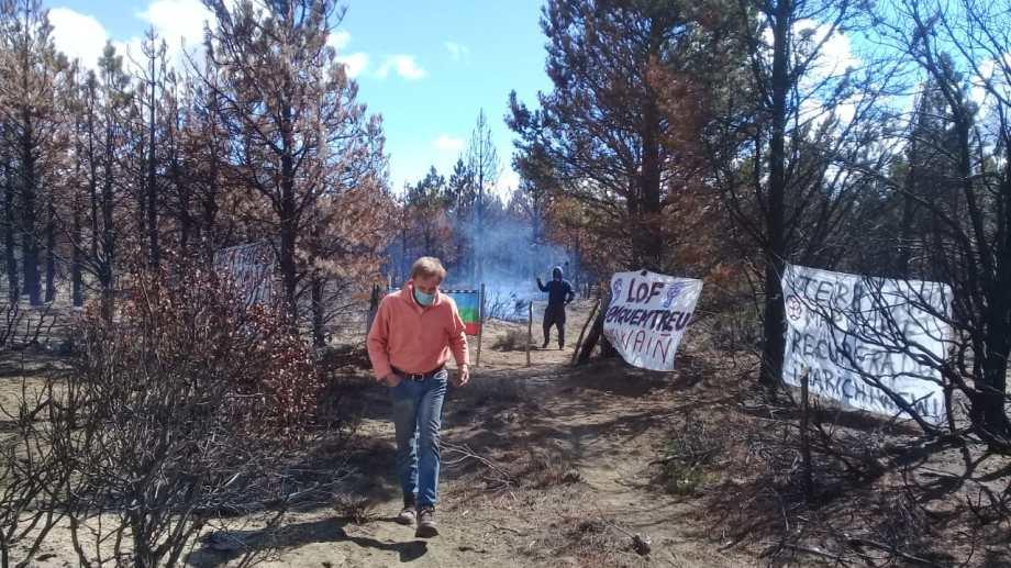 El fin de semana se desató un nuevo conflicto de tierras con una comunidad mapuche en la cordillera, esta vez en la zona de Cuesta del Ternero. Foto: Gentileza
