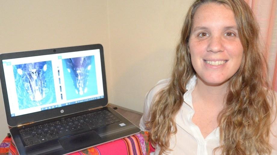 Magdalena Arias es investigadora de la Fundación Natural Félix de Azara desde Las Grutas e impulsora del catálogo de ballenas
