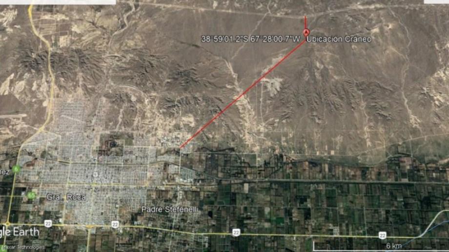 Los restos fueron hallados al norte de la localidad de Cervantes. (foto: gentileza)