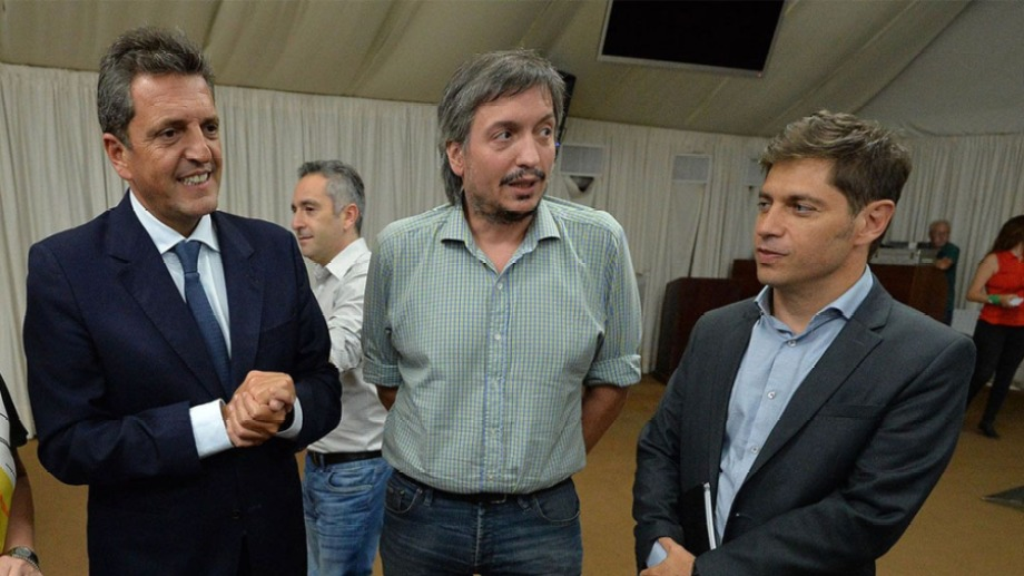 El presidente de Diputados, el jefe de a bancada y dirigente de La Cámpora y el gobernador de Buenos Aires visitaron hoy la Casa Rosada.