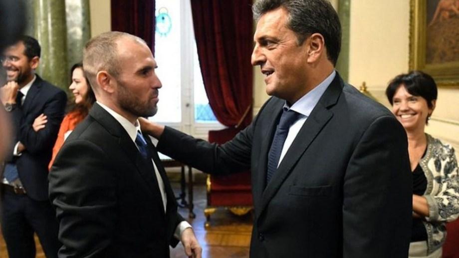 Massa fue este viernes al Ministerio de Economía, que dirige Martín Guzmán.
