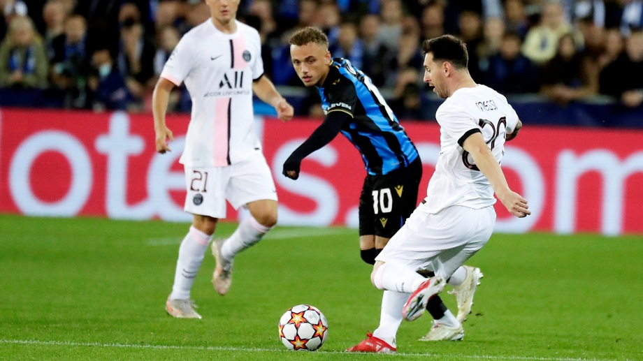 Imagen de Lionel Messi en sus primeros minutos con PSG por Champions.