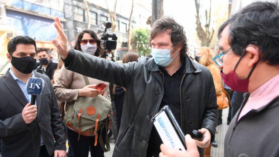 Javier Milei prepandidato de Libertarios en la Ciudad de Buenos Aires.