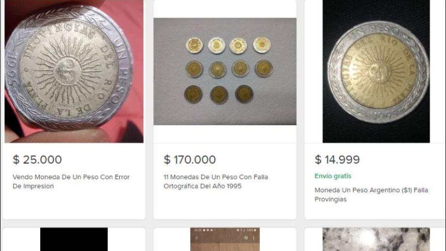 Más de 200 personas de Neuquén y Río Negro intentan vender sus monedas de un peso. (Captura)