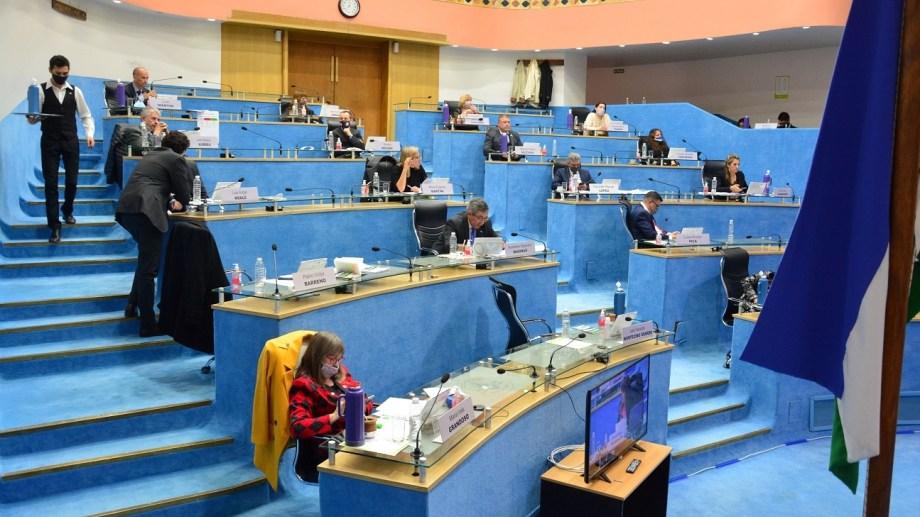 Todos los legisladores participarán desde el recinto. Foto: Marcelo Ochoa.