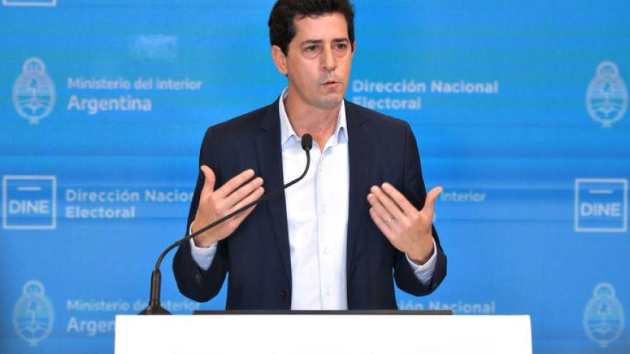 """El ministro del Interior Eduardo """"Wado"""" de Pedro."""