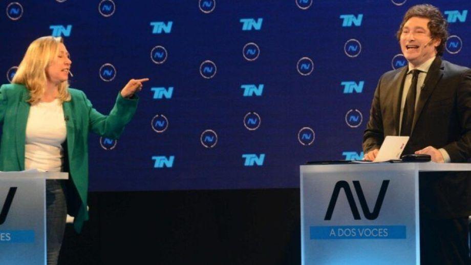 Myriam Bregman y Javier Milei protagonizaron fuertes cruces durante el debate televisivo.