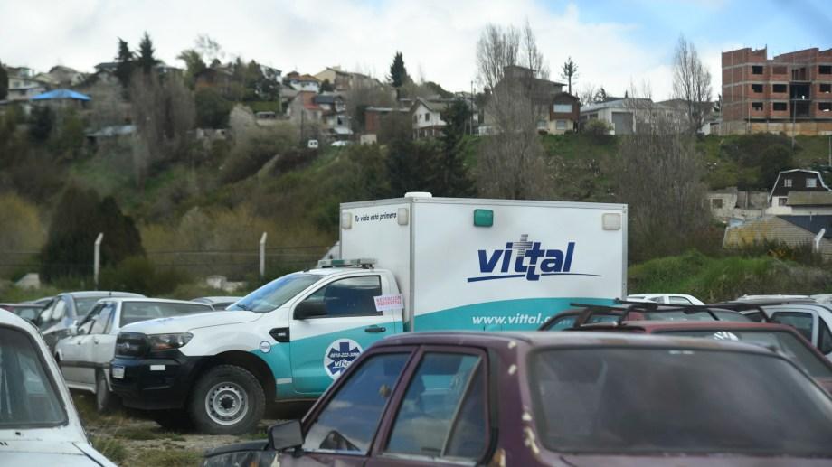 Los inspectores secuestraron dos ambulancias de Vittal. Foto: Marcelo Martínez