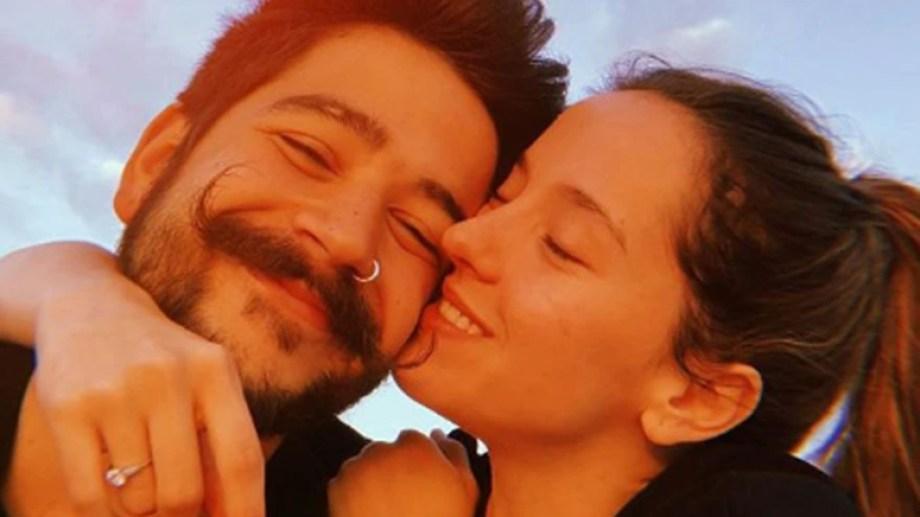 La pareja y su alegría en su cuenta de Instagram.
