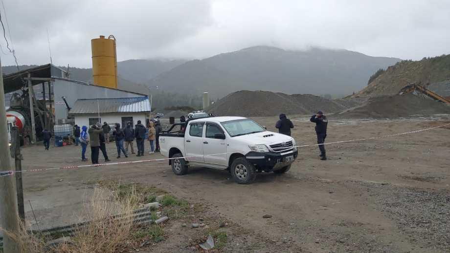El cadáver lo encontraron en el predio donde funciona una cantera privada, en la zona sur de Bariloche. Foto: gentileza