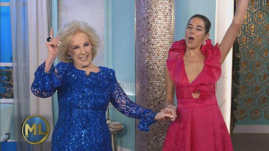Juana Viale y Mirtha Legrand, cuando la diva volvió a dirigir su programa.