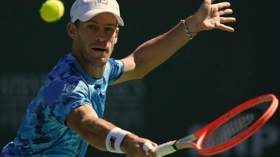 Diego Schwartzman la pelea en el Masters de Indian Wells.