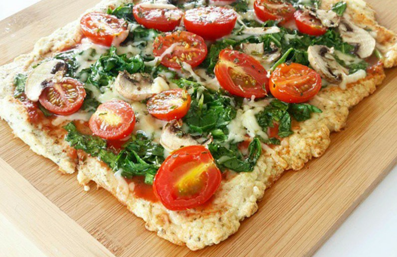 Light de verduras pizza